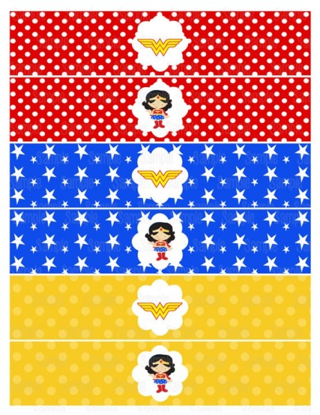 Instant Download Printable Wonder Woman Napkin Rings