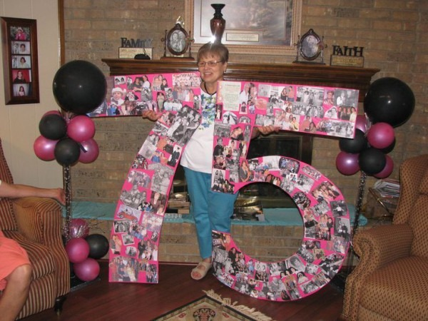 Poster Board For Mother's 75th Birthday Party Worked Out Great
