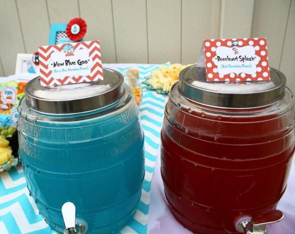 Thing One & Thing Two Dr Seuss Themed Birthday Party For Twins Via