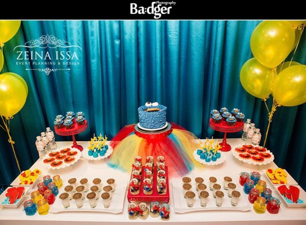 Cookie Monster Dessert Table