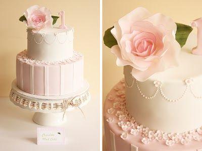 Sophia's Vintage Rose First Birthday Cake