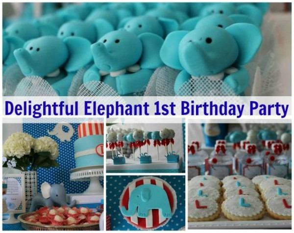 Blue Elephant Birthday Party