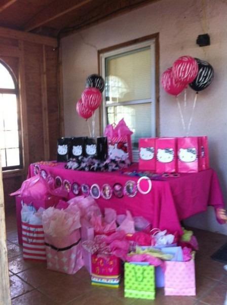 Hello Kitty Zebra 1st Birthday Birthday Party Party Ideas