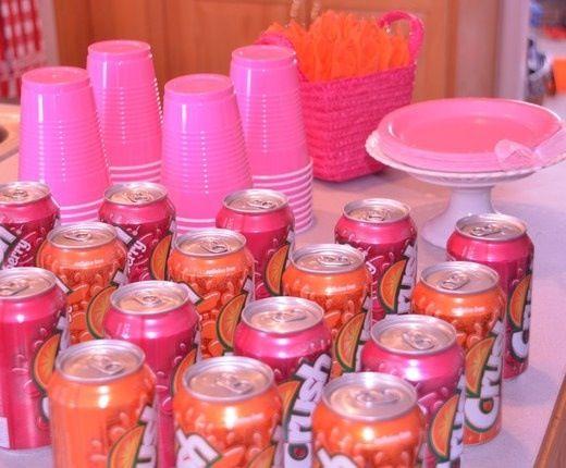 Hot Pink Orange Baby Shower Ideas