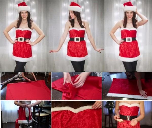 How To Make Santa Girlish Costume