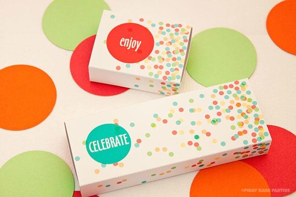 Confetti Matchbox Favor Box