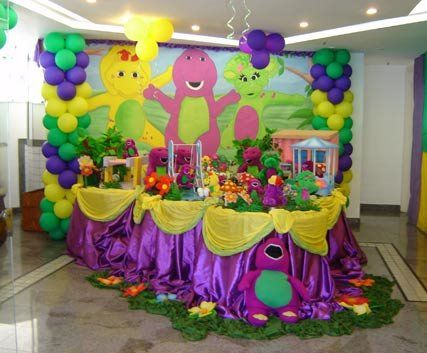 Barney Party Decorations …