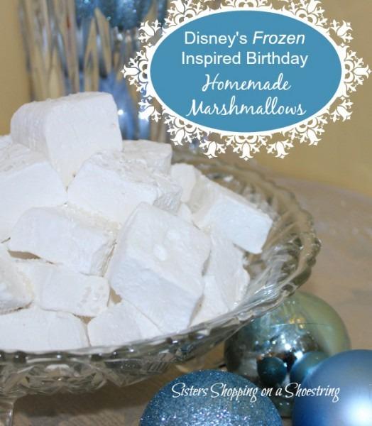 Disney Frozen Birthday Party – Homemade Marshmallows – Sisters