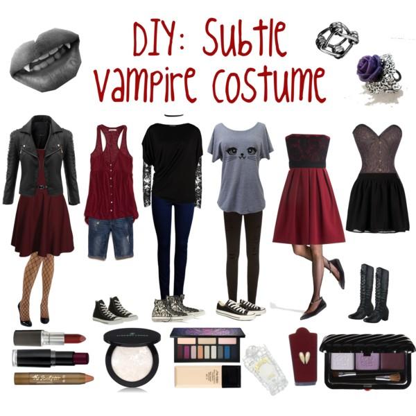 Diy  Vampire Costume Polyvore, Vampires Costumes Ideas