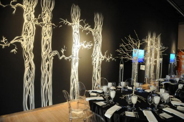 The 2008 Design Exchange Gala Achieved A Haunted Forest Effect In