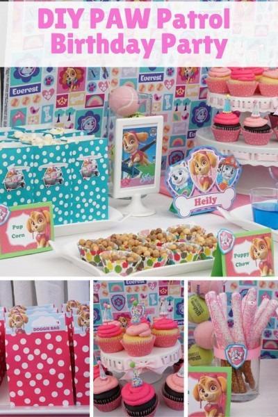 Paw Patrol Dessert Table   Skye Birthday Party Great Diy Ideas
