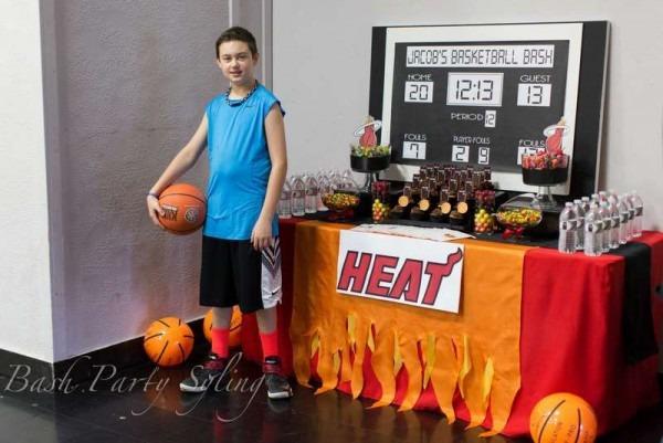 Miami Heat Basketball Birthday Party Ideas