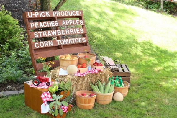 Kara's Party Ideas Farmers Market 1st Birthday Party