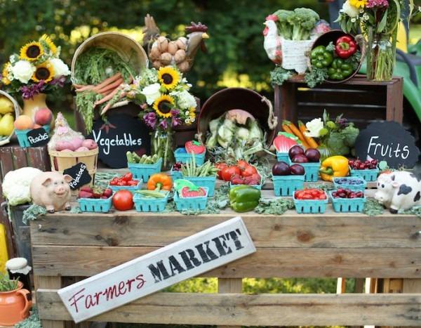Farmer's Market Birthday Party