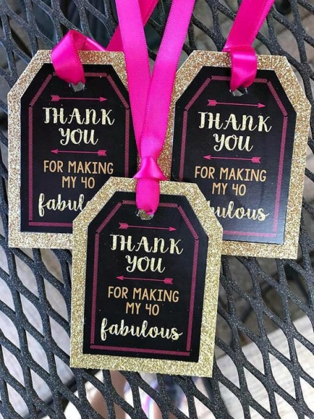 Forty And Fabulous, 40 And Fabulous Favor Tags, 40th Party Favor