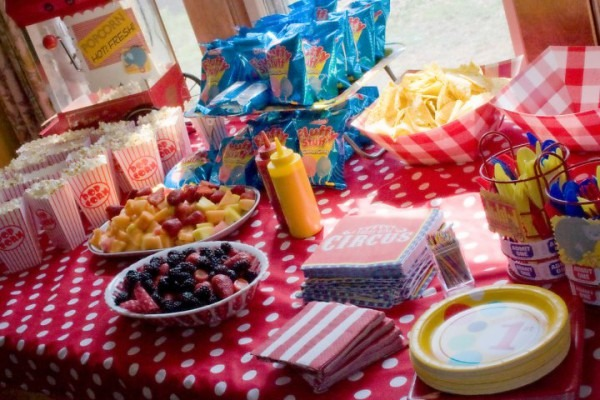Evan's First Birthday  Circus Party Food