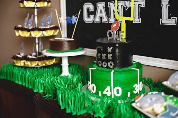 Kara's Party Ideas Football 1st Birthday Party