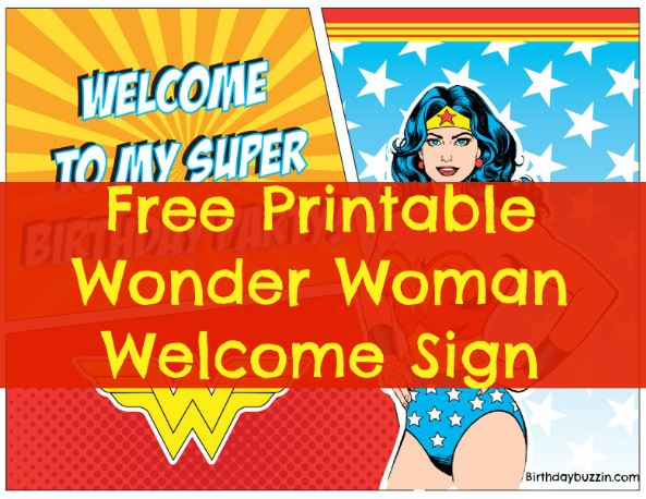 Wonder Woman Birthday Party Printables Archives