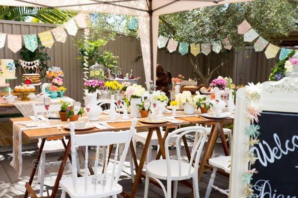 Kara's Party Ideas Garden Baby Shower Party Planning Ideas