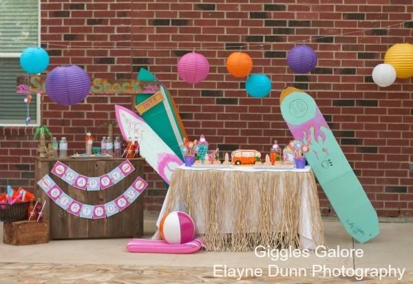 Hang  10  Retro Surf Shack Birthday Party