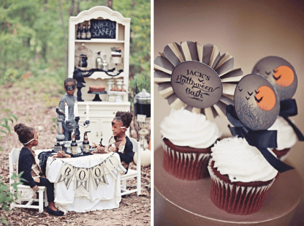 Kara's Party Ideas Haunted Forest Owl Outdoor Budget Halloween
