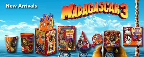 Madagascar 3 Party Supplies For Kids Birthday Party Themes At Mtrade