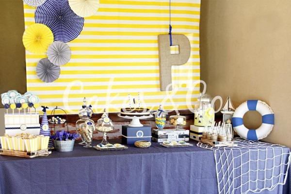 Kara's Party Ideas Yellow And Blue Nautical Birthday Party Ideas