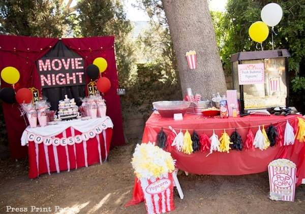 Perfect Backyard Movie Night Birthday Ideas