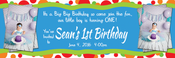 1st Birthday Banners For Boys Personalised 18 Personalised 1st