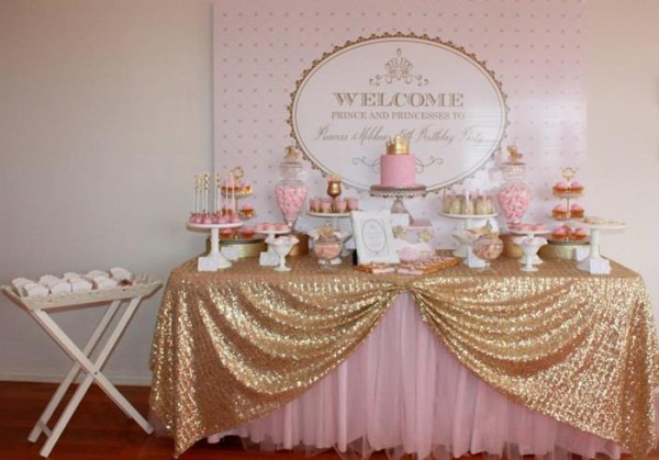 Pink And Gold Baby Shower Decor Interior Design Simpleminimalist