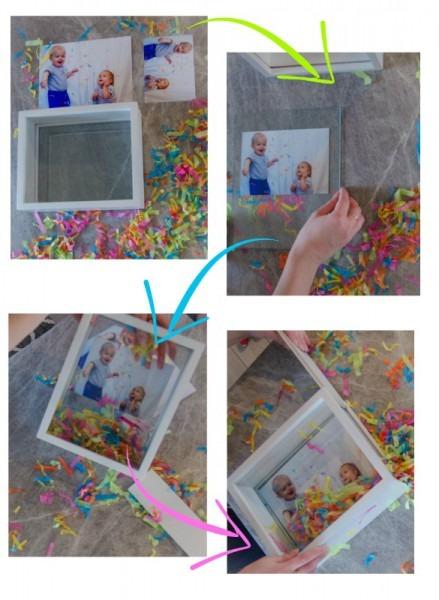 Diy Confetti Filled Shadow Box