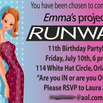 Project Runway Birthday Party {tween Girl Birthday Party Theme
