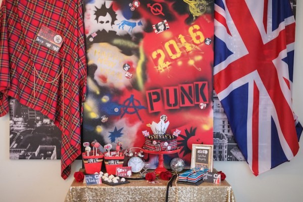 Kara's Party Ideas Punk Glam New Years Eve Party