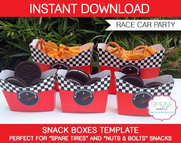 Race Car Snack Boxes