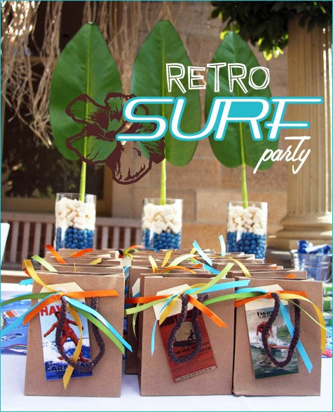 Real Parties  Retro Surfer Birthday    Hostess With The Mostess®