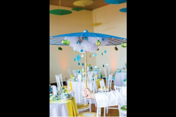 Chicago Baby Shower  Appetizers Hung From Parasols At A Recent