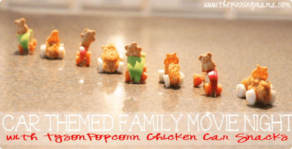 Ad Car Themed Family Movie Night With Popcorn Chicken Car Snacks