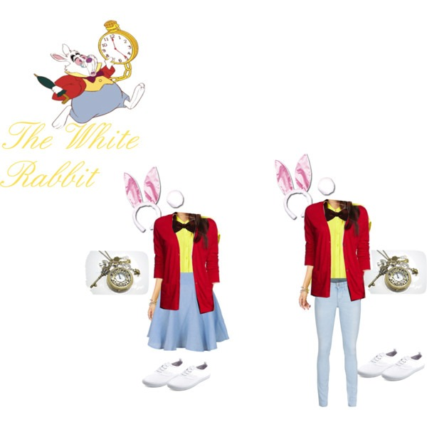 White Rabbit Costume Diy Polyvore, White Rabbit Halloween Costume
