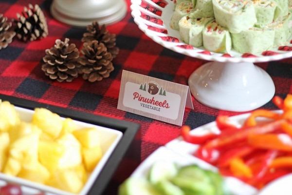 Kara's Party Ideas Woodland Animal + Lumberjack Baby Shower