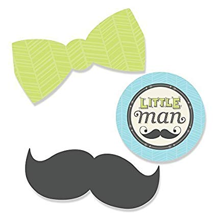 Amazon Com  Big Dot Of Happiness Dashing Little Man Mustache Party