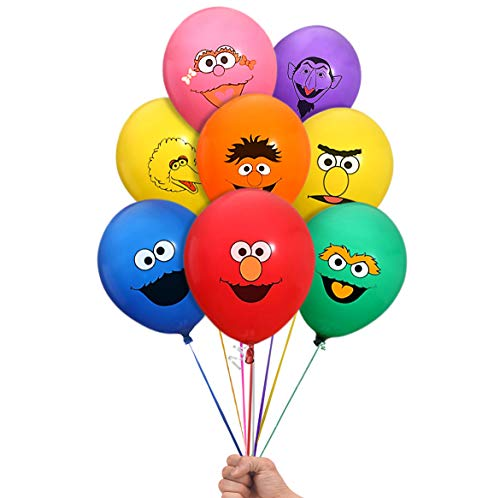 Amazon Com  Sesame Street Elmo And Friends 24 Count Party Balloon