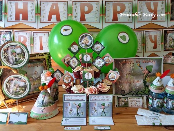 Printable Peter Pan Party Supplies