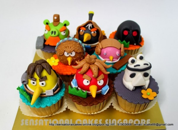 Starwars Cupcakes   Angry Birds And Piggies Cupcakes Set