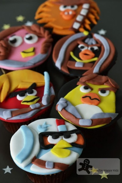 Bake For Happy Kids  Angry Birds Star Wars Cupcakes
