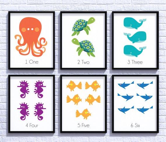 Sea Creatures Nursery Decor Sea Life Baby Shower Nursery