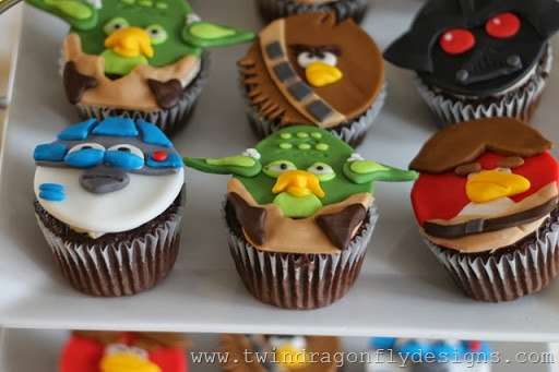 Angry Birds Star Wars Cupcakes » Dragonfly Designs