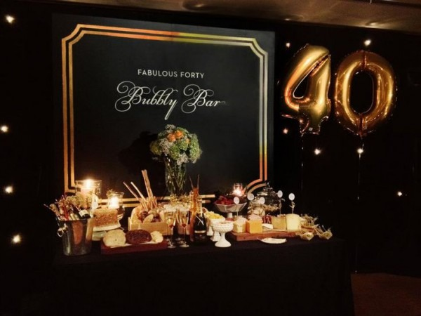 40th Birthday Table Decorations Ideas