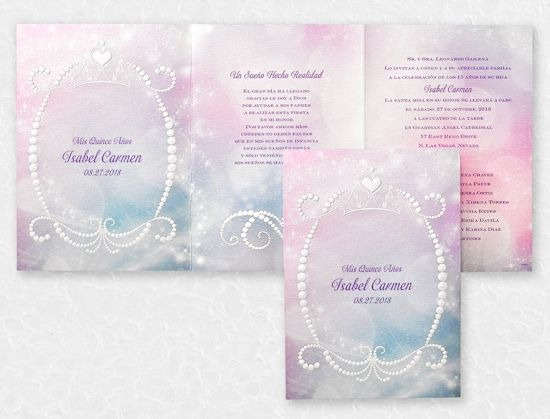 Royal Ball Quinceanera Disney Invitation Sample