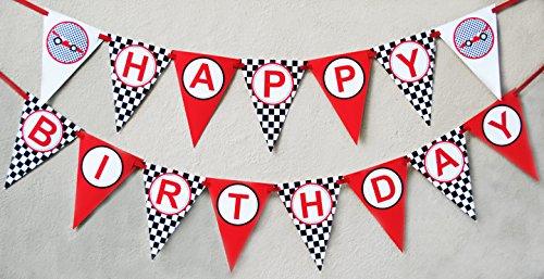 Amazon Com  Race Car Birthday Banner Pennant  Toys & Games