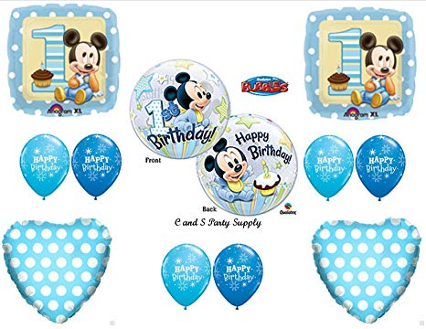 Amazon Com  New!! Baby Mickey Mouse Birthday 1st First Party